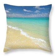 Lanikai Blue Throw Pillow