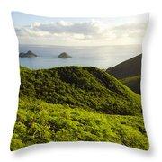 Lanikai Hills Throw Pillow