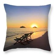 Lanikai Lounging At Sunrise Throw Pillow