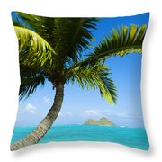 Lanikai Palm Throw Pillow