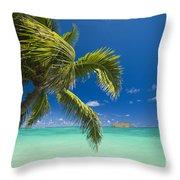 Lanikai Seascape Throw Pillow