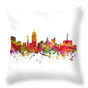 Lansing Cityscape 08 Throw Pillow