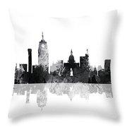 Lansing Michigan Skylines Throw Pillow