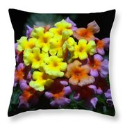 Lantana Flower Chips Throw Pillow