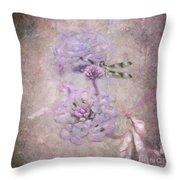 Lantana In Purple Throw Pillow