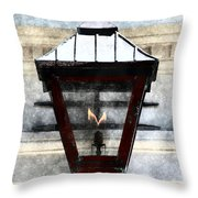 Lantern 13 Throw Pillow by Donna Bentley