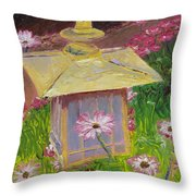 Lantern And Friends Throw Pillow