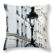 Lantern Clock Throw Pillow