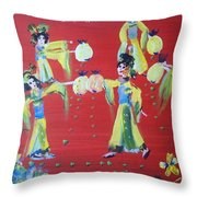 Lantern Dance Throw Pillow