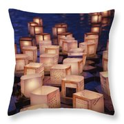 Lantern Floating Ceremony Throw Pillow
