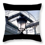 Lantern In Front Of The Crystal Palace, Madrid Throw Pillow