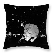 Lantern Liftoff Throw Pillow