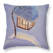Lantern Light On A Snowy Evening Throw Pillow