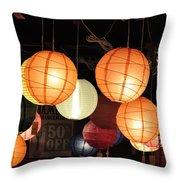 Lanterns 50 Percent Off Throw Pillow