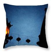 Lanterns- Art By Linda Woods Throw Pillow
