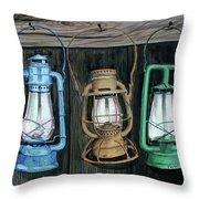 Lanterns Throw Pillow