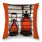 Lanterns Still Life Throw Pillow