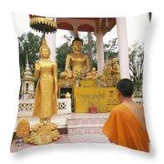 Laos, Vientiane Throw Pillow