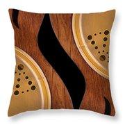 Lap Guitars        Throw Pillow by Mike McGlothlen