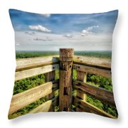 Lapham Peak Wisconsin - View From Wooden Observation Tower Throw Pillow