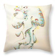 Lapis Lazuli Bejeweled Fertility Goddess Throw Pillow