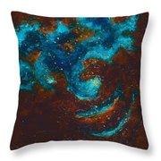 Lapis Lazuli Nebula  Throw Pillow