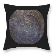 Lapland Shaman Drum Throw Pillow