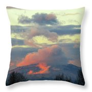 Wyoming Sunsets 1 Throw Pillow