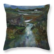 Laramie River Valley  Throw Pillow