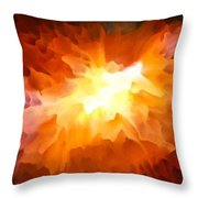 Large Abstract Art Painting Throw Pillow