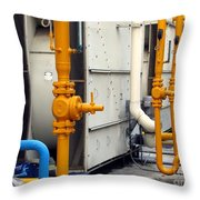 Large Air-conditioning Cooling Tower Throw Pillow