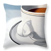 Large Coffee Cup Throw Pillow