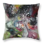 Large Color Fever Abstract25-original Abstract Painting Throw Pillow