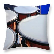 Large Copper Kettledrums Throw Pillow