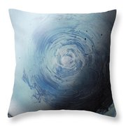 Large Earth Storm Throw Pillow