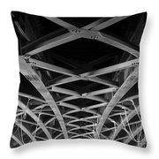 Large Girder Bridge Throw Pillow