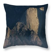 Large Granite Mountains In California Throw Pillow