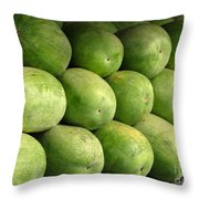 Large Heavy  Watermelons Throw Pillow