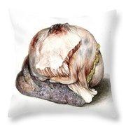 Large Hyatid Cyst In Spleen Throw Pillow