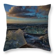 Large Icebergs At Dawn #4 - Iceland Throw Pillow