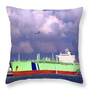 Large Oil-tanker Throw Pillow