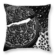 Large Oreo Black And White  Throw Pillow