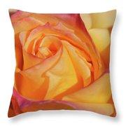 Large Peace Rose Center 006 Throw Pillow