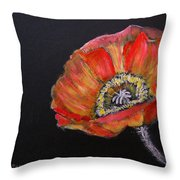 Large Poppy Throw Pillow