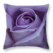 Large Purple Rose Center - 002 Throw Pillow