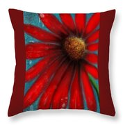 Large Red Flower Throw Pillow