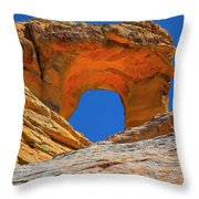 Large Sandstone Arch Valley Of Fire Throw Pillow