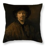 Large Self-portrait Throw Pillow