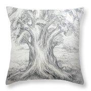 Large Shady Tree Throw Pillow