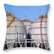 Large Spherical Sotrage Tanks Throw Pillow